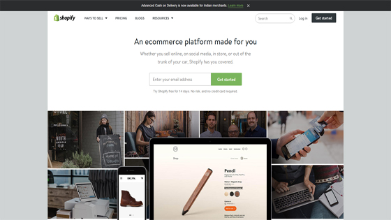 e-Commerce Software Provider, Shopify
