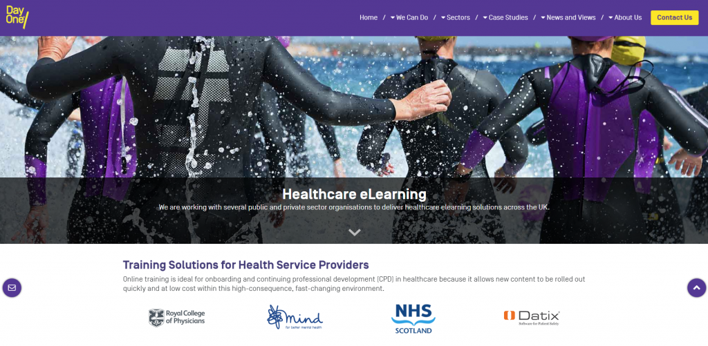 Healthcare Training Technology from Day One, UK